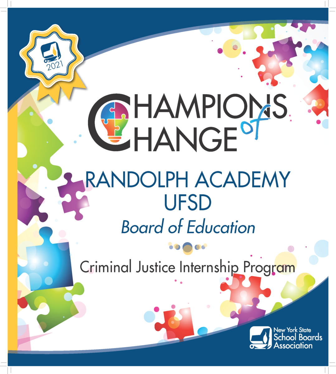New York State School Boards Association honors Randolph Academy as 'Champion of Change'